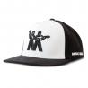 WHITE AND BLACK MUSIC MAN LOGO HAT